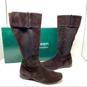 Paul Green Abby tall Boot suede chocolate suede 6